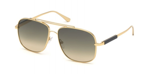 Tom Ford JUDE TF0669 30B Shiny Endura Gold/Gradient Smoke