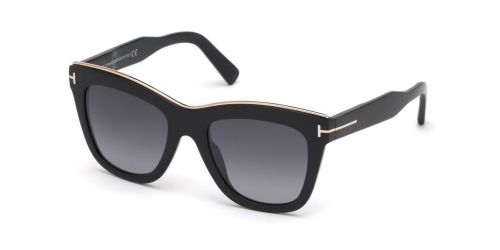 Tom Ford Tom Ford JULIE TF0685 01C Shiny Black/Smoke Mirror