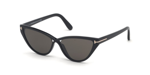 Tom Ford CHARLIE-02 TF0740 01A Shiny Black/Smoke
