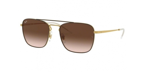 Ray-Ban RB3588 905513 Gold Top on Brown