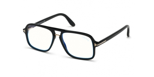 Tom Ford Tom Ford TF5627-B Blue Control TF 5627-B 001 Shiny Black