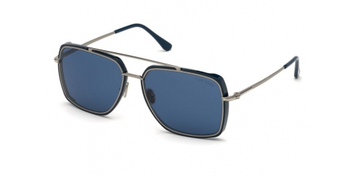 Tom Ford LIONEL TF0750 90V Shiny Blue / Blue