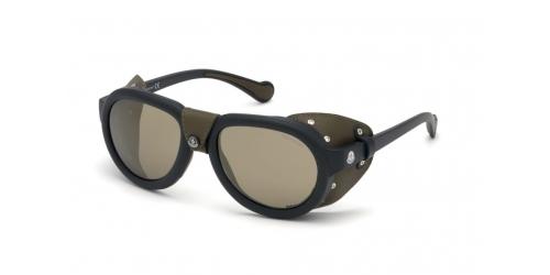 Moncler Moncler ML0090/S ML 0090/S 02L Matte Black/Roviex Mirror