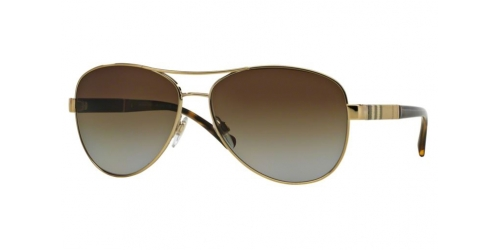 Burberry BE3080 114T5 Light Gold Polarized