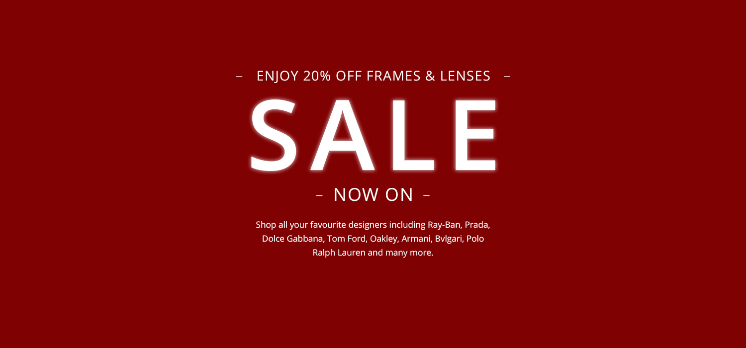 20% off the latest designer eyewear